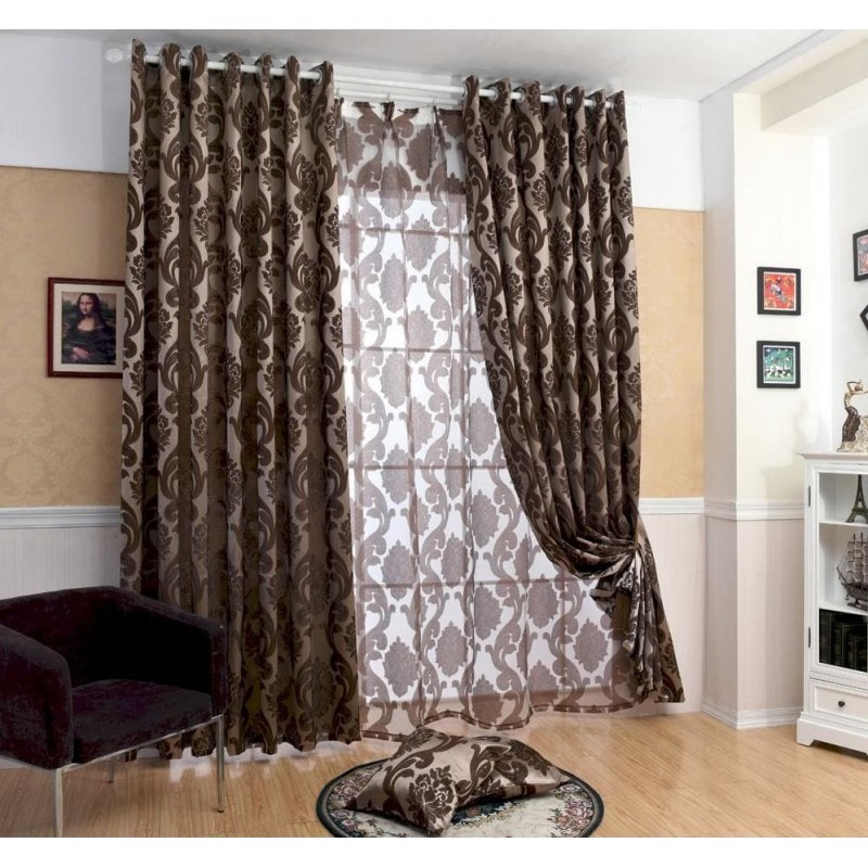 rideau occultant gris ou marron large court et long rideaux design. Black Bedroom Furniture Sets. Home Design Ideas