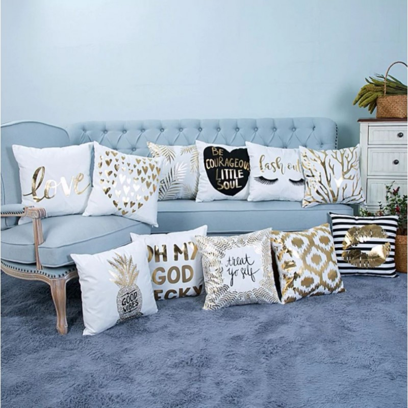 coussins d co glamour motif brillant maison luxe. Black Bedroom Furniture Sets. Home Design Ideas