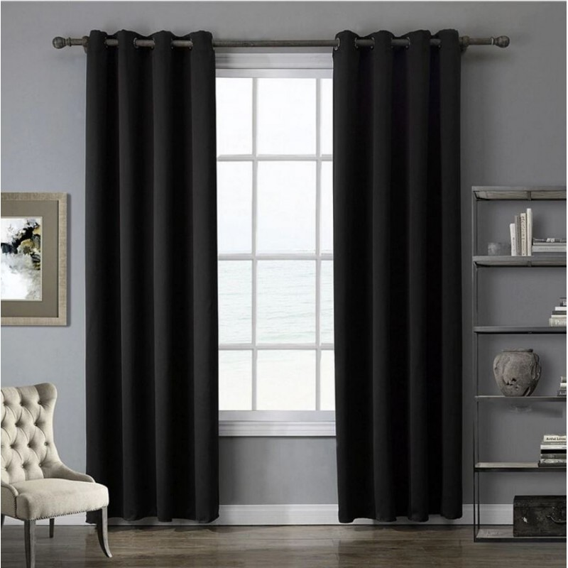 rideau noir tringle rideau design noir mat 150 cm inspire emejing salon noir avec rideau. Black Bedroom Furniture Sets. Home Design Ideas